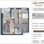 Apartamente de vanzare Burnitei Residential 4 -2 camere tip B23-B31