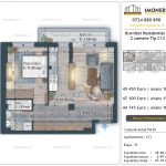 Apartamente de vanzare Burnitei Residential 4 -2 camere tip C13