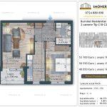 Apartamente de vanzare Burnitei Residential 4 -2 camere tip C18-C26