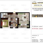 Apartamente de vanzare Pallady - Burnitei Apartments -2 camere tip D'