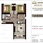 Apartamente de vanzare Pallady - Burnitei Apartments -3 camere tip A'