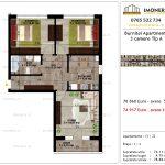 Apartamente de vanzare Pallady - Burnitei Apartments -3 camere tip A